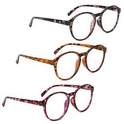 Retro Round Lens Plastic Glasses Frame Optical Eyeglass Spec