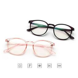 Fashion Retro Round Frame Men Women Vintage Clear Lens Glass