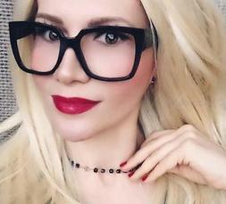Retro Square Rectangular Hot Frames Clear Lens Fashion Hipst