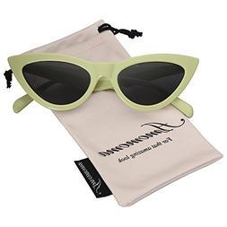retro vintage narrow cat eye sunglasses