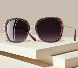 Retro Women's Sunglasses Mirrored Eye-wear Polarized Sunshad