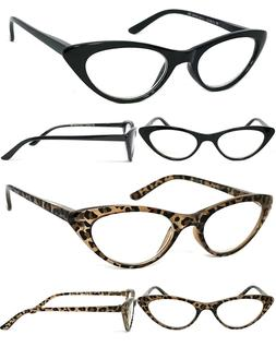 Retro Womens Cat Eye Full Lens Reading Glasses Spring Hinges
