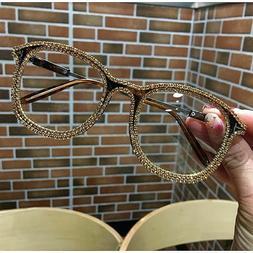Rhinestone Cat Eye Glasses Retro Vintage Bling Eyewear Women