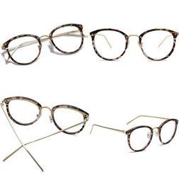 Amomoma Round Non-Prescription Eyeglasses Clear Lens Glasses