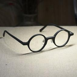 Round Retro John Lennon eyeglasses mens matte black circle g
