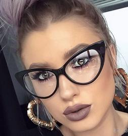 Sexy Attitude NIKITA Fashion Cat Eye Glasses Celebrity Clear