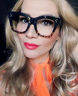 Sexy Large Thick Cat Eye Frames Catherine Square Geek Eyegla