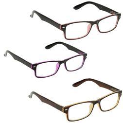 ShadyVEU - Rectangular Reading Glasses Flat Top Zoom Readers