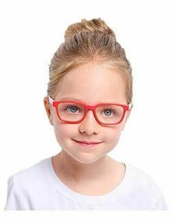 Shiratori Kids Childrens Anti-Blu-ray Glasses Nerd Retro Sil
