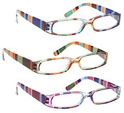 GAMMA RAY 3 Pairs Ladies Slim Fashion Readers Colorful Readi