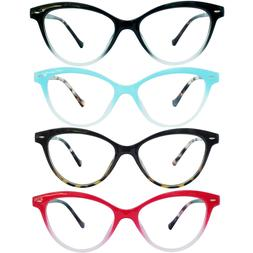 Soft Cat Eye Style Reading Glasses with Spring Hinges Arm fo