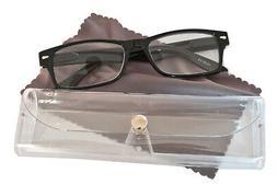 Reading Glasses Eyeglass Case Men Women Unisex Plastic Frame