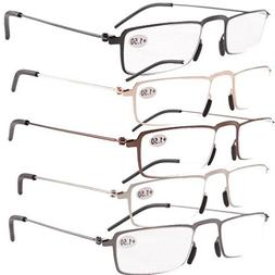Eyekepper 5-Pack Straight Thin Stamped Metal Frame Half-eye