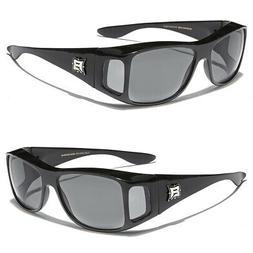 Sunglasses Fit Over Prescription Eye Glasses Black Smoke Len