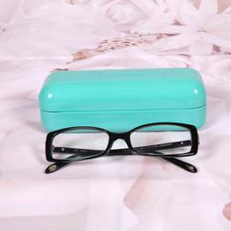 Tiffany & Co. Women's Silver Hearts Rx Glasses Eyewear Black