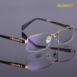 Titanium Eyeglass Frames Half Rimless Men's Spectacle Fram
