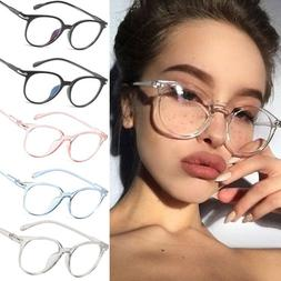 Transparent Round Myopia Eyeglasses Frame Clear Spectacle Op
