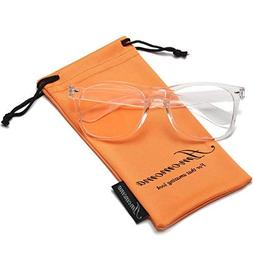 Amomoma Unisex Wayfarer Non-prescription Glasses Frame Clear