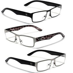 UV400 Clear Lens Men's Sunglasses Optical RX Prescription Fr