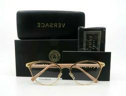 Versace VE1259Q 1412 Pink Gold Demo Lens Women's Cat Eye Eye