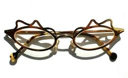 Vintage 1996 L.A. Eyeworks Eyeglasses Metal Gold Lula 451 Ca