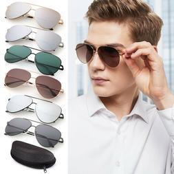 Vintage Men's Women's Mirror Flat Lens Sunglasses Retro Eye