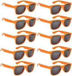 Vintage Retro Eyeglasses Sunglasses Smoke Lens 10 Pack Color