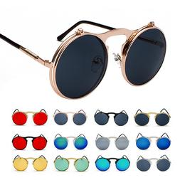 Vintage Retro Flip-up Lens Steampunk Sunglasses John Lennon