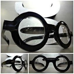 VINTAGE RETRO WALDO Style Clear Lens EYE GLASSES Round Thick