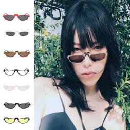 Vintage Small Eyewear Metal Frame Sunglasses Women's Retro S
