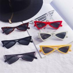 Vintage Triangle Cat Eye Sunglasses Women Fashion Anti-UV Gl