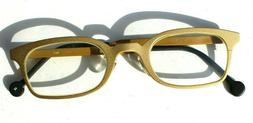 Vtg 1987 L.A. Eyeworks Eyeglasses Metal Gold Cheetah Santo 4