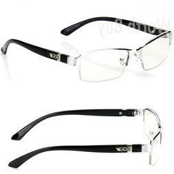 WB Mens Women Clear Lens Half Frame Eye Glasses Designer Fas