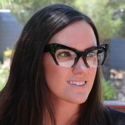 Women Cat Eye Vintage Glasses Frame Cateye Clear Lens Retro