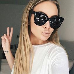 Women Fashion Cat Eye Sunglasses Gradient Shades Glasses Eye