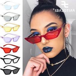 Women Fashion Vintage Sun Glasses Cat Eye Small Frame UV400
