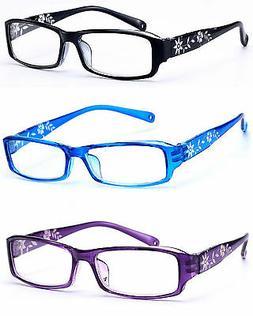 Women READING GLASSES +0.5 +1.0 +2.0 +3.0 Eyeglasses Slim Fr