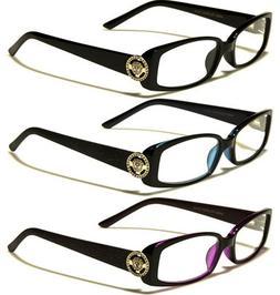 women rectangular reading eye glasses 1 25