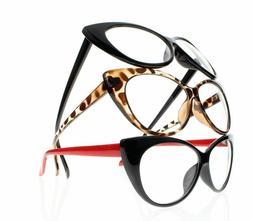 Women Retro Vintage Cat Eye Reading Glasses Readers +1.0 +1.