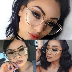 Women's EXAGGERATED VINTAGE RETRO Style Clear Lens EYE GLASS