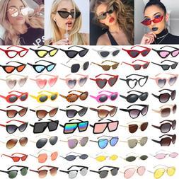 Women's Retro Cat Eye Sunglasses Fashion Eyewear Shades Summ
