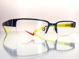 Nike Women's Rx Prescription Eye Glasses Frames 5568 Blue/Ye