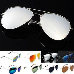 Women's Vintagees Lens Mirrored Metal Frame Glasses Oversize