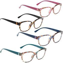 Womens Cat Eye Reading Glasses Vintage Reader Fashion Flower