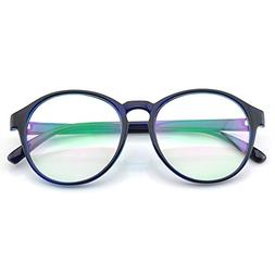 PenSee Womens Oversized Frame Inspired Horned Rim Clear Lens