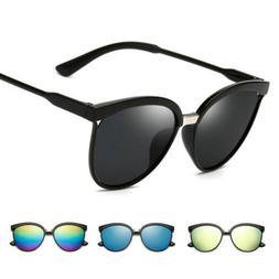 Women's Retro Mirror Designer Flat Lens Sunglasses Eye Gla