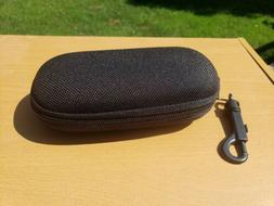 Zip Hard Sunglass/Eye Glasses Case with Belt Clip black New